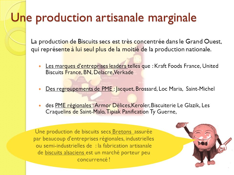 Une production artisanale marginale