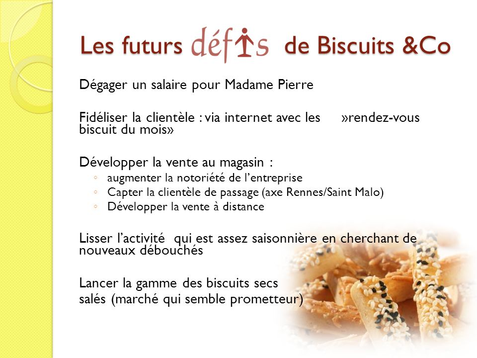 Les futurs de Biscuits &Co