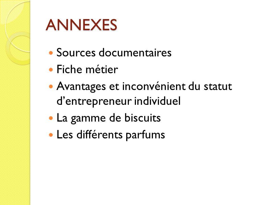 ANNEXES Sources documentaires Fiche métier
