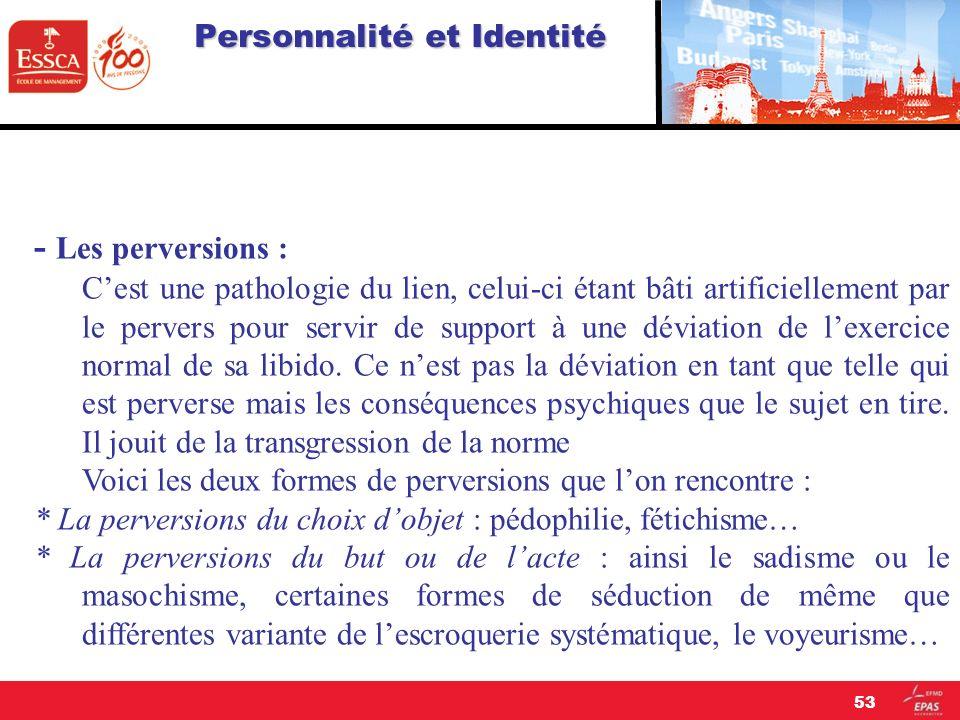 Personnalité et Identité
