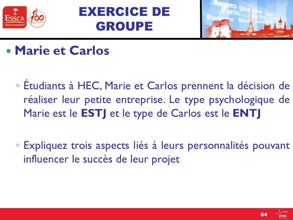 Marie et Carlos EXERCICE DE GROUPE