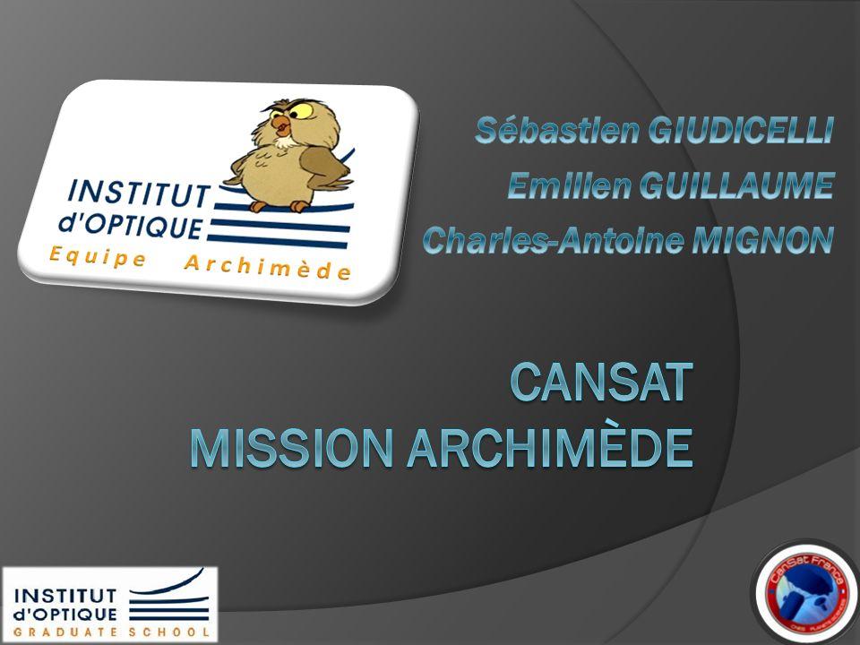 CanSat MISSION Archimède