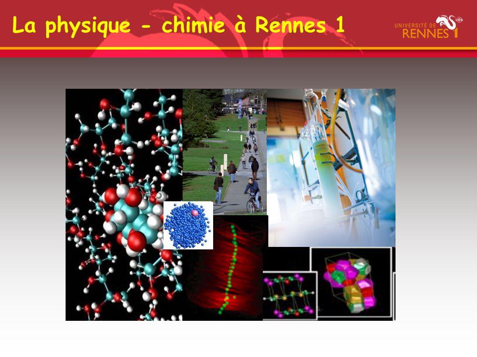 La physique - chimie à Rennes 1