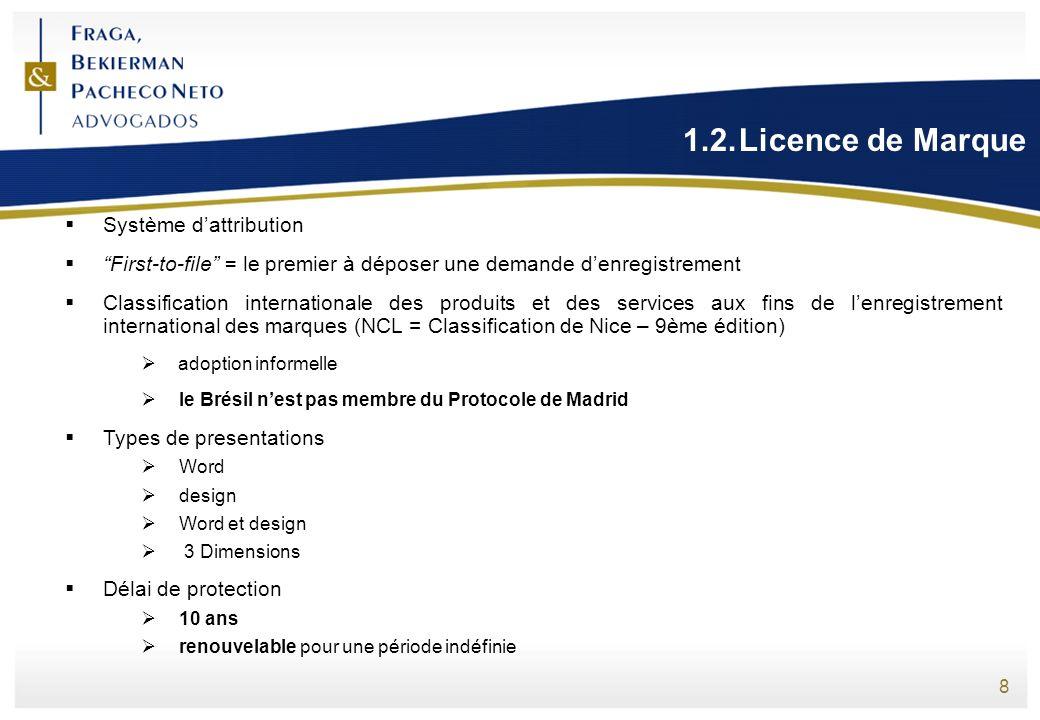 1.2. Licence de Marque Système d'attribution