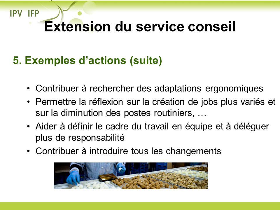 Extension du service conseil