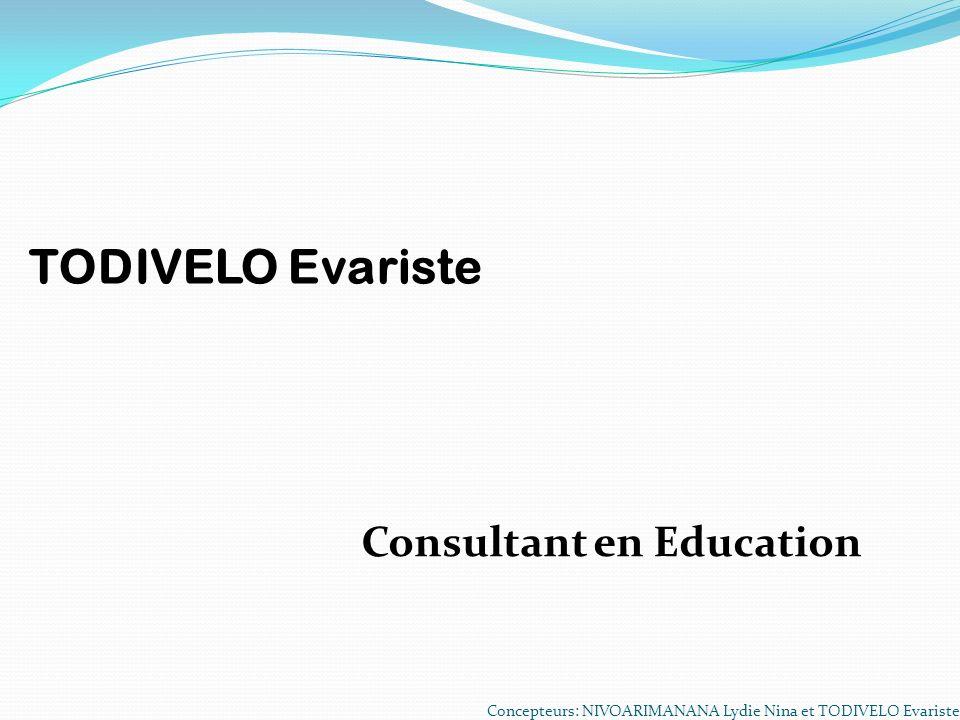TODIVELO Evariste Consultant en Education