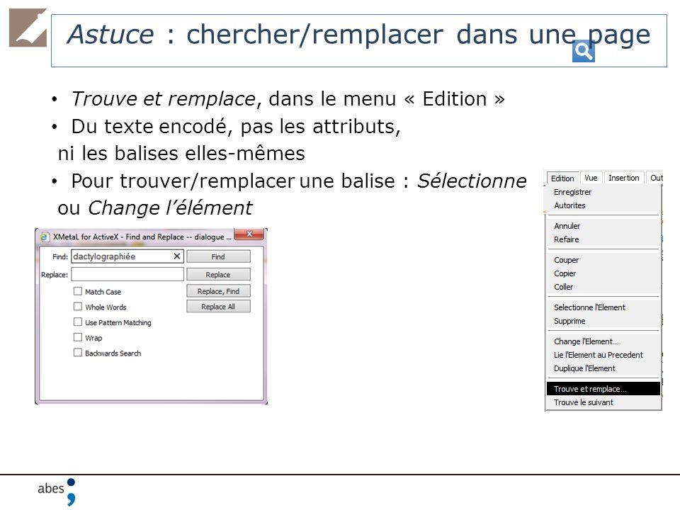 Astuce : chercher/remplacer dans une page