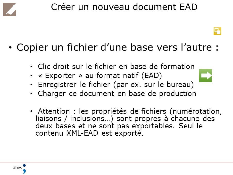 Créer un nouveau document EAD