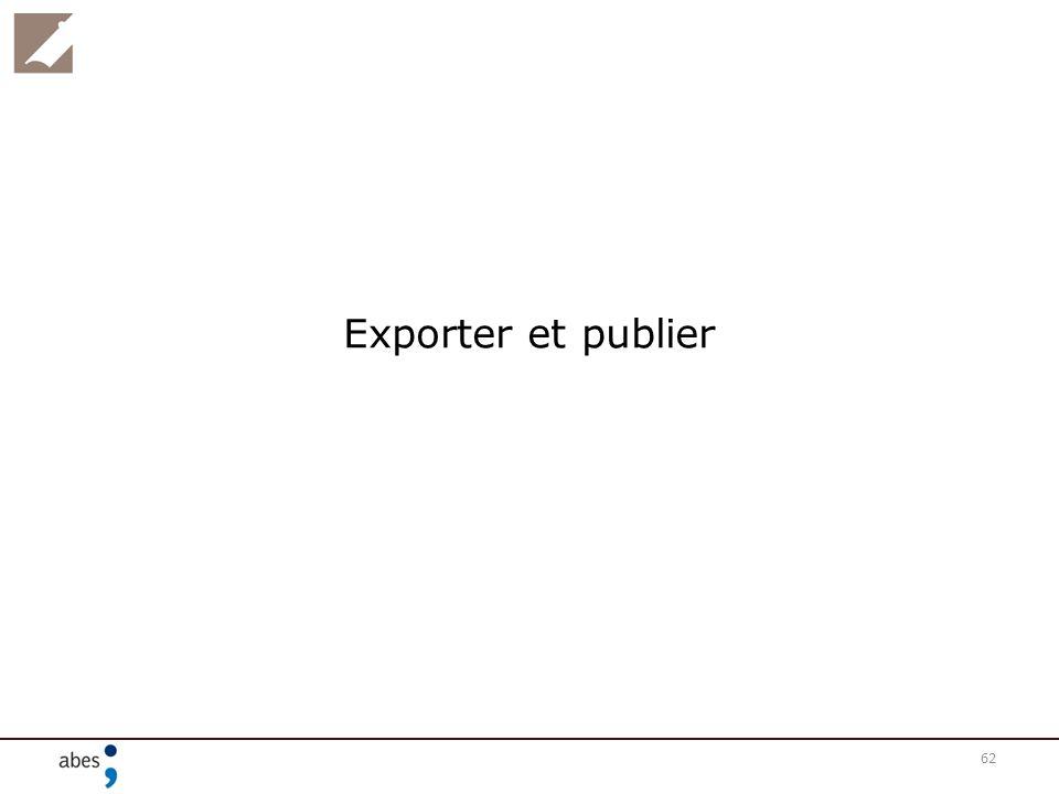 Exporter et publier