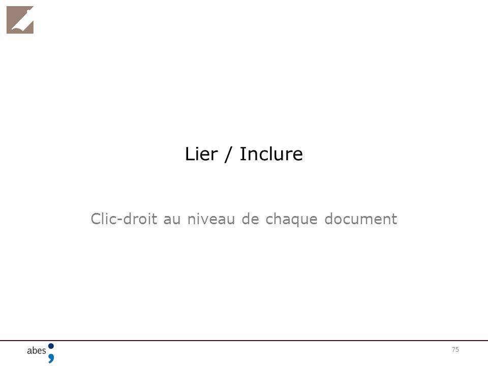 Clic-droit au niveau de chaque document