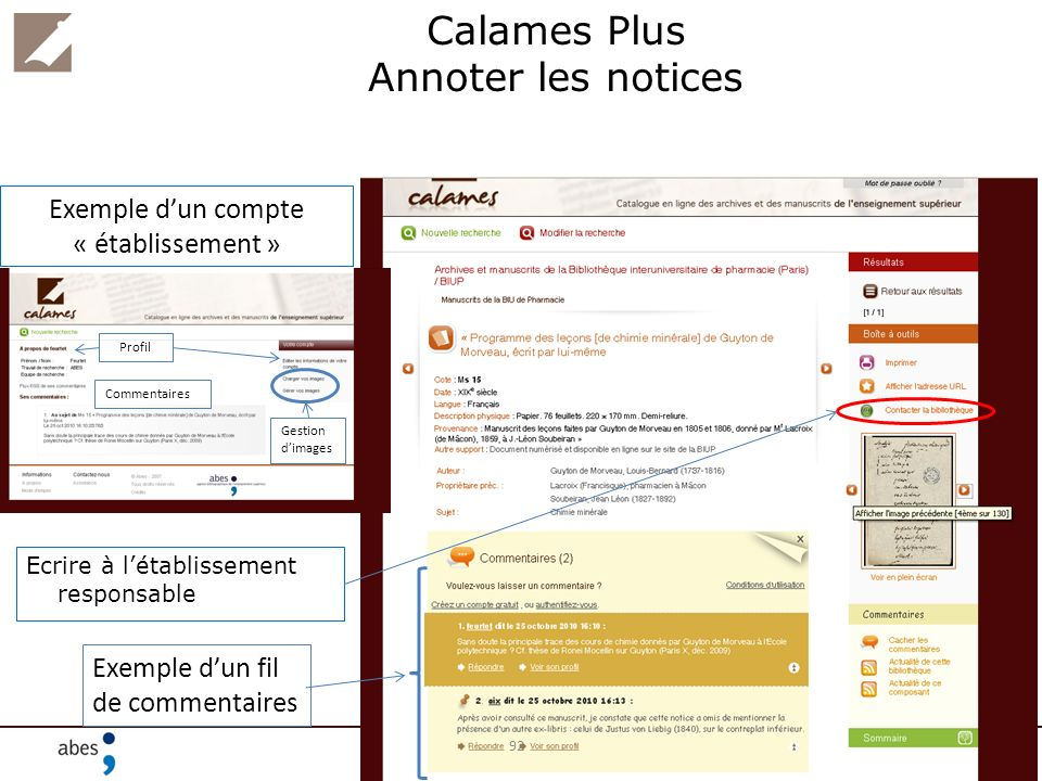 Calames Plus Annoter les notices