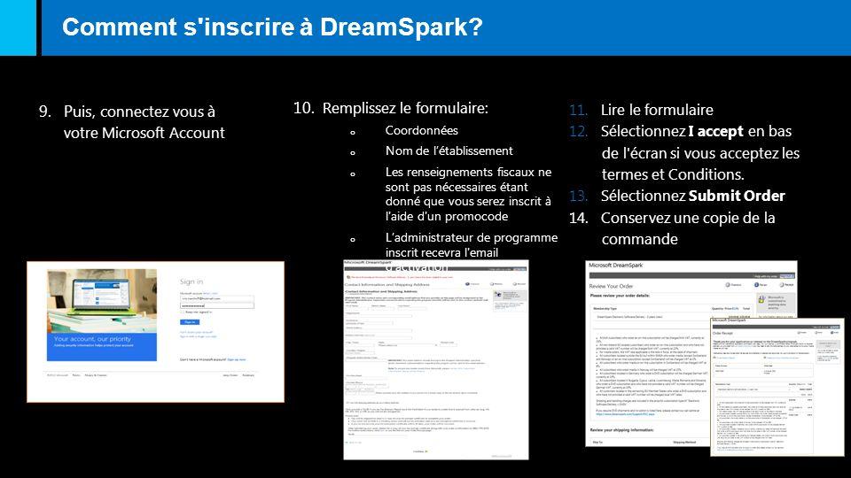 Comment s inscrire à DreamSpark
