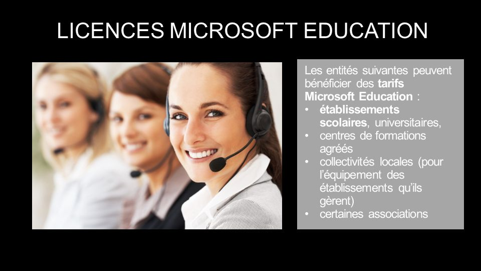 LICENCES MICROSOFT EDUCATION