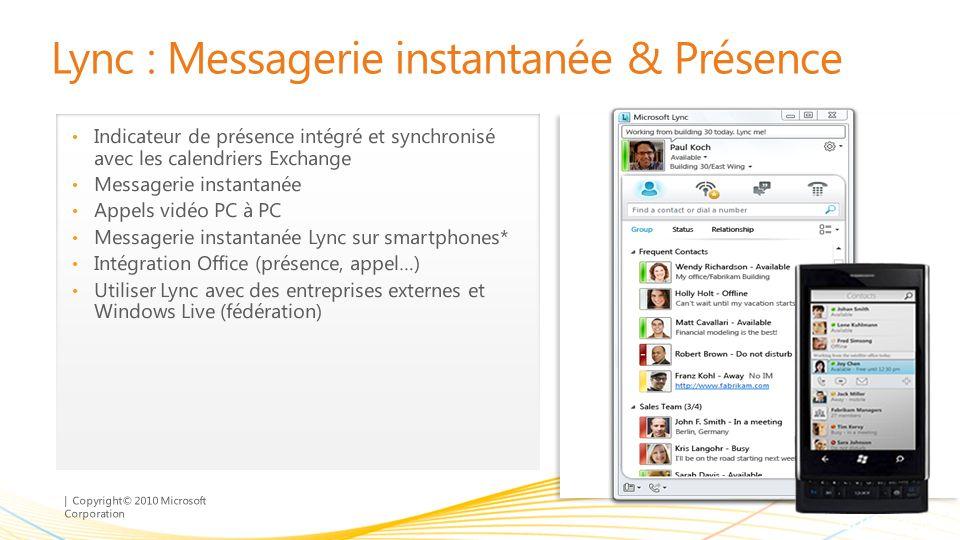 Lync : Messagerie instantanée & Présence
