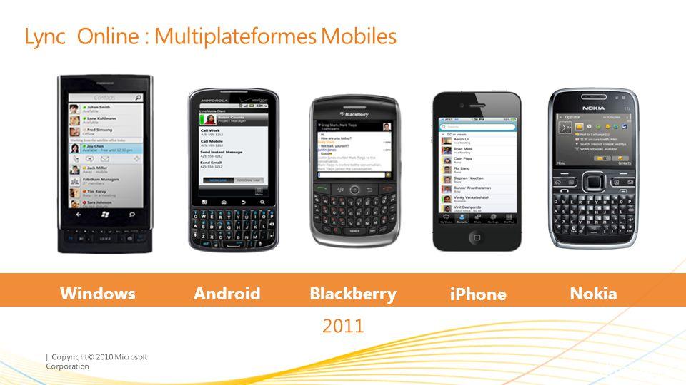 Lync Online : Multiplateformes Mobiles