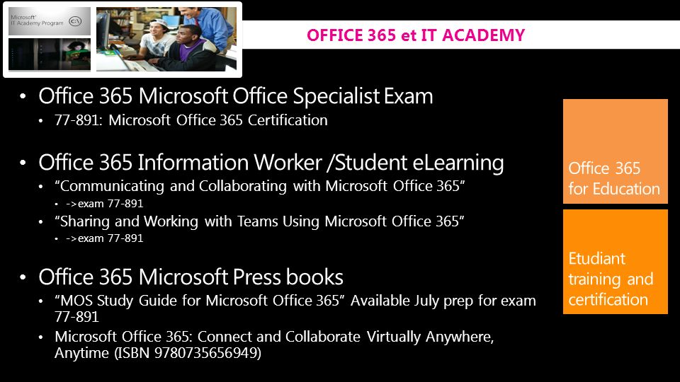 Office 365 Microsoft Office Specialist Exam
