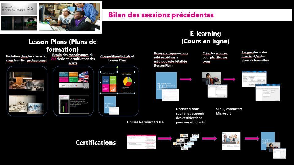 Lesson Plans (Plans de formation)