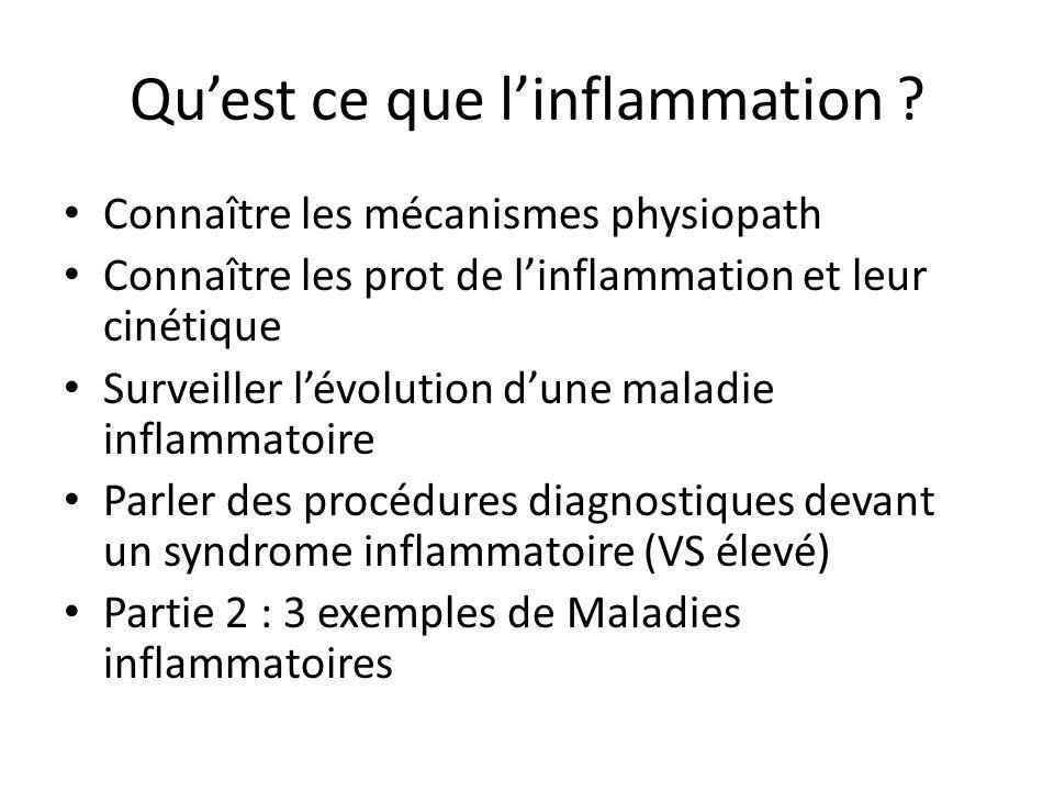Qu'est ce que l'inflammation