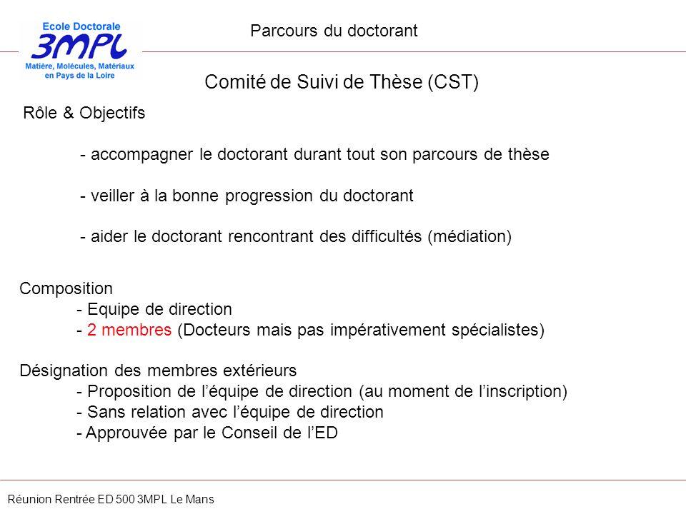 Comité de Suivi de Thèse (CST)