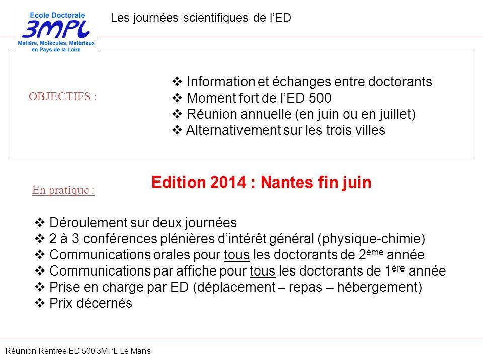 Edition 2014 : Nantes fin juin