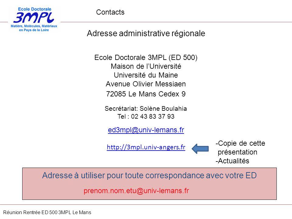 Adresse administrative régionale