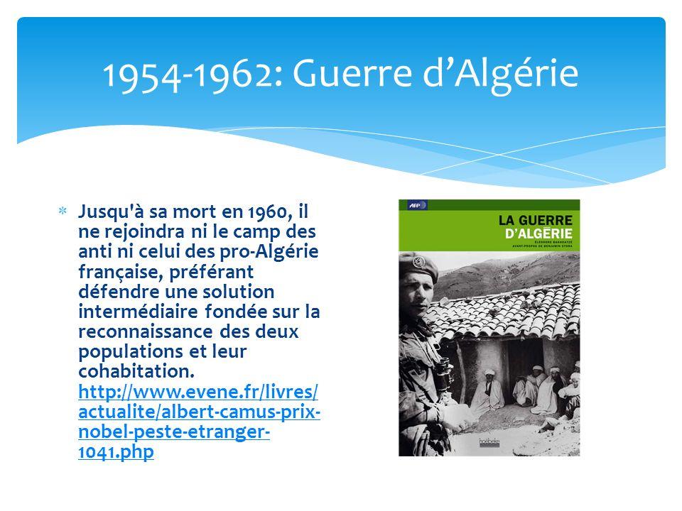 1954-1962: Guerre d'Algérie