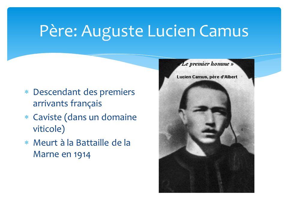 Père: Auguste Lucien Camus