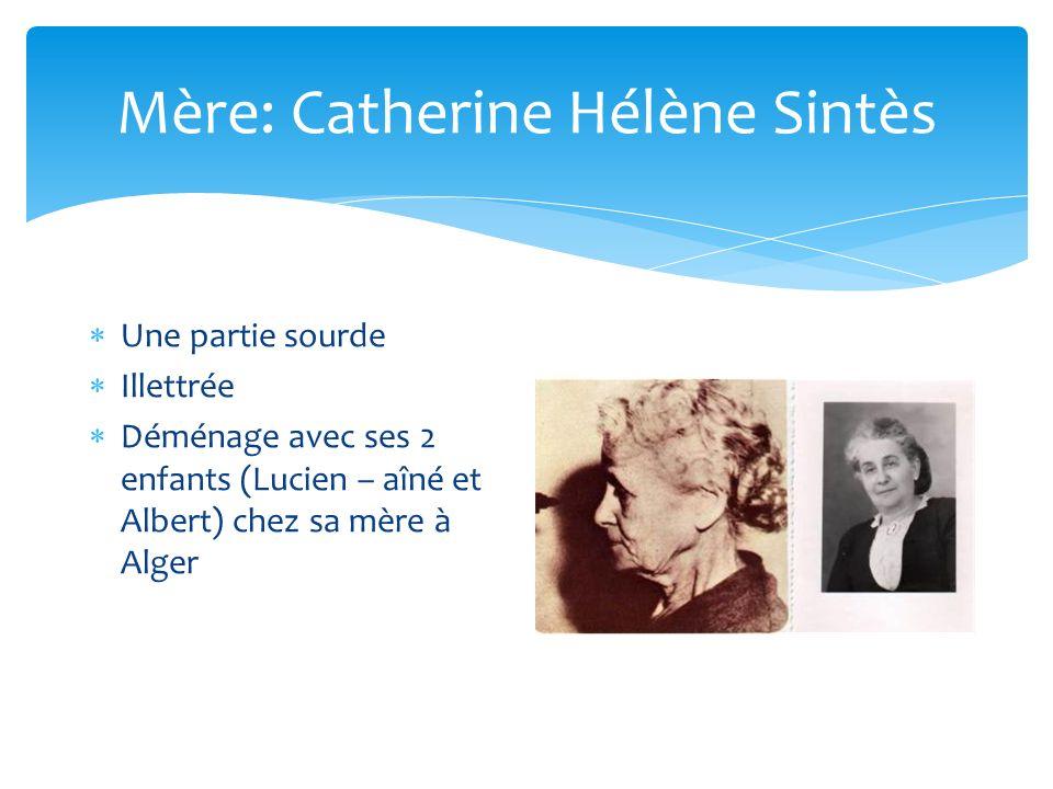 Mère: Catherine Hélène Sintès