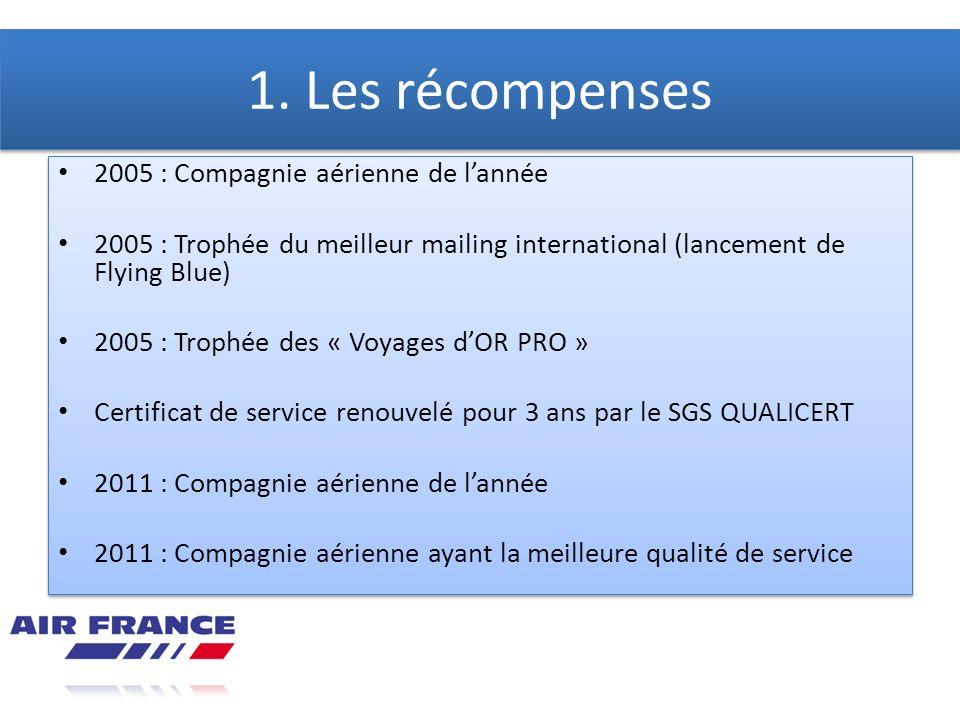 1. Les récompenses 2005 : Compagnie aérienne de l'année