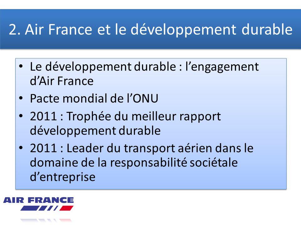 2. Air France et le développement durable