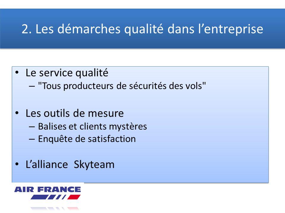 2. Les démarches qualité dans l'entreprise
