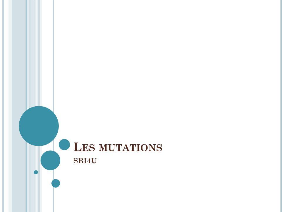 Les mutations SBI4U