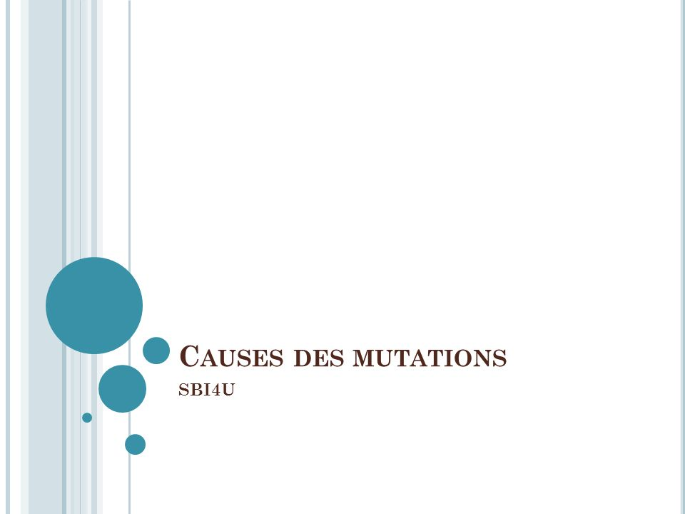 Causes des mutations SBI4U