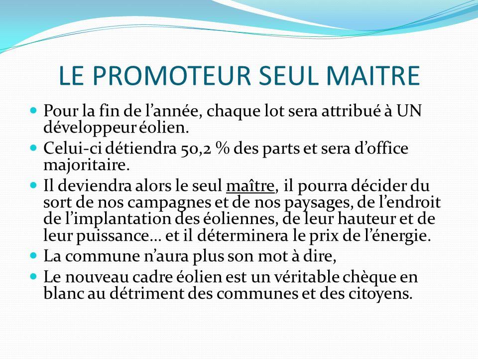 LE PROMOTEUR SEUL MAITRE