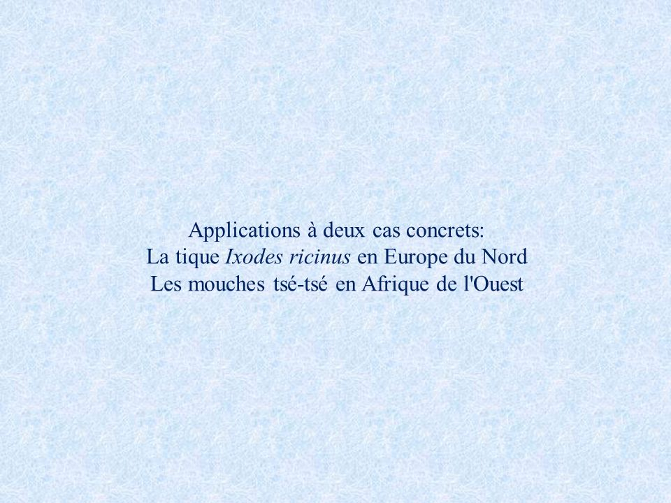 Applications à deux cas concrets: