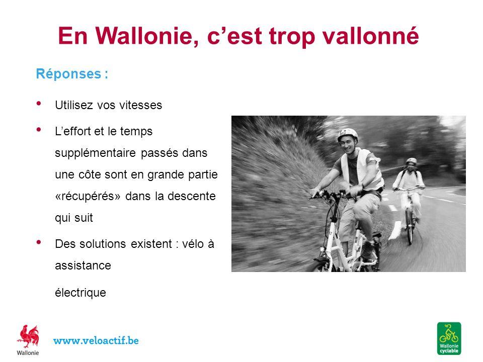 En Wallonie, c'est trop vallonné