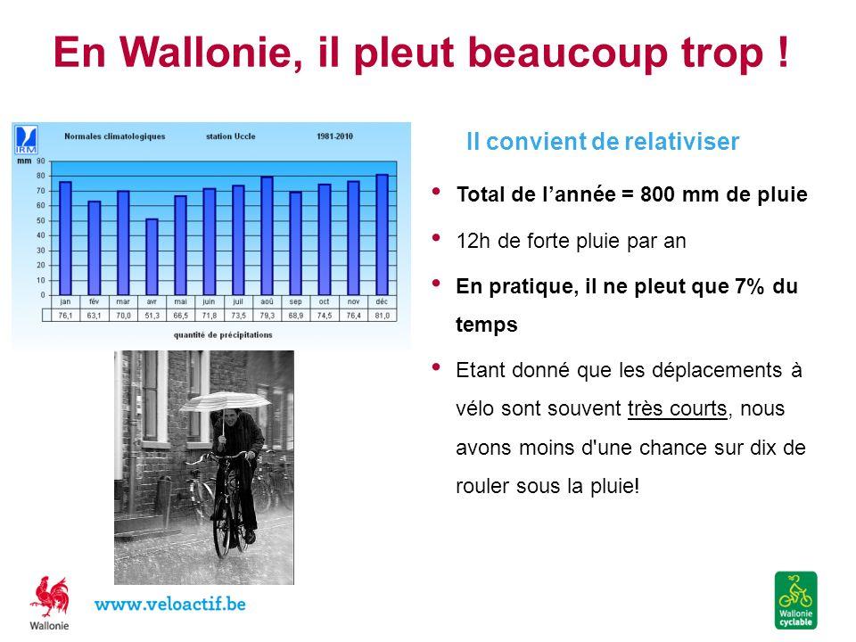 En Wallonie, il pleut beaucoup trop !