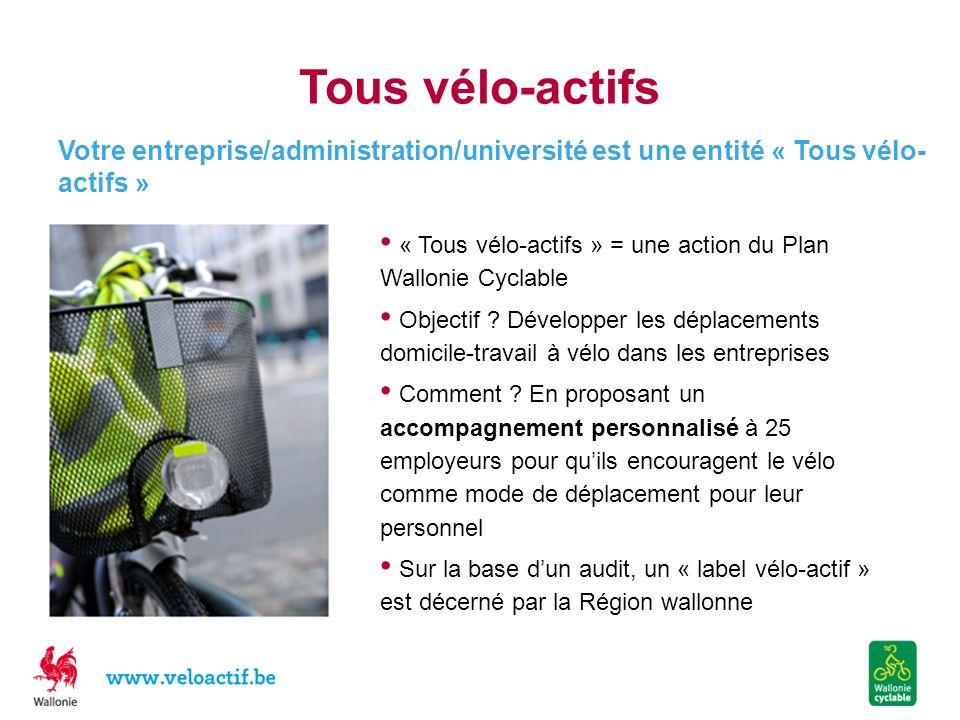 Tous vélo-actifs Votre entreprise/administration/université est une entité « Tous vélo-actifs »