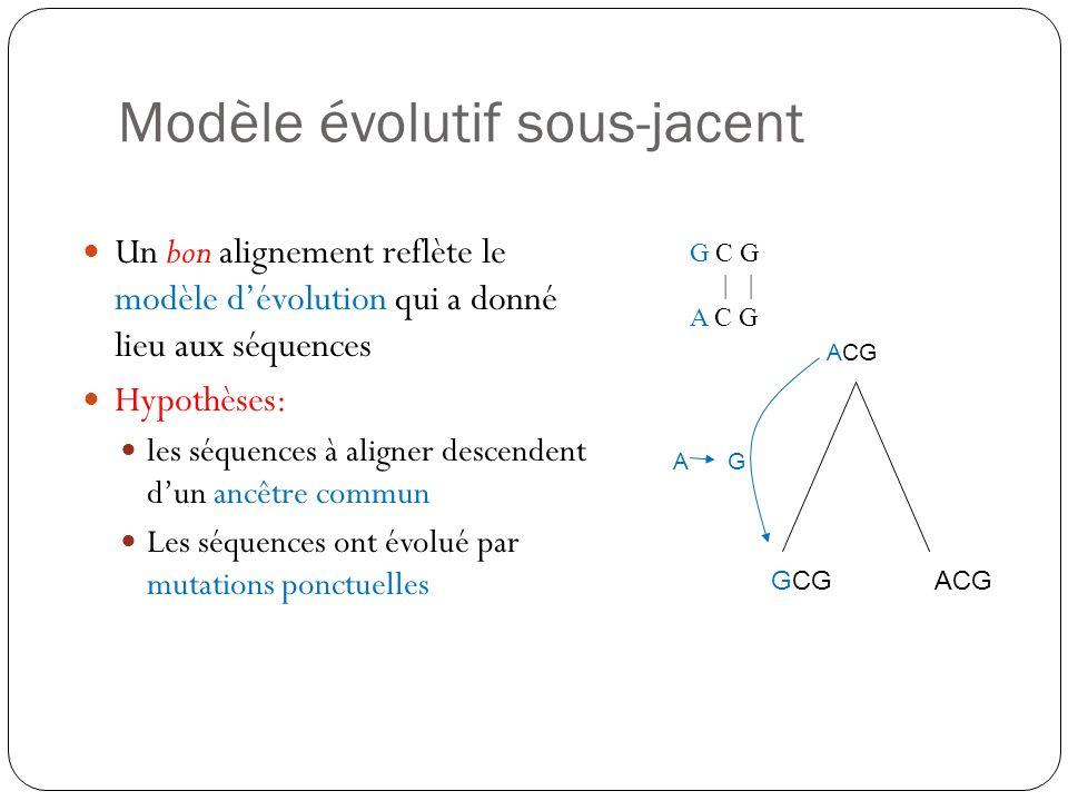 Modèle évolutif sous-jacent