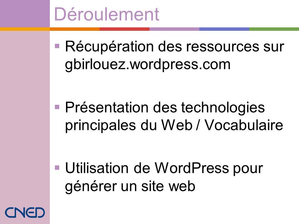 Déroulement Récupération des ressources sur gbirlouez.wordpress.com