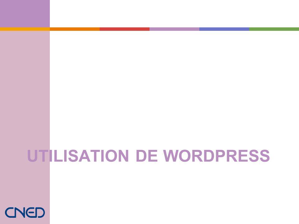 Utilisation de WordPress