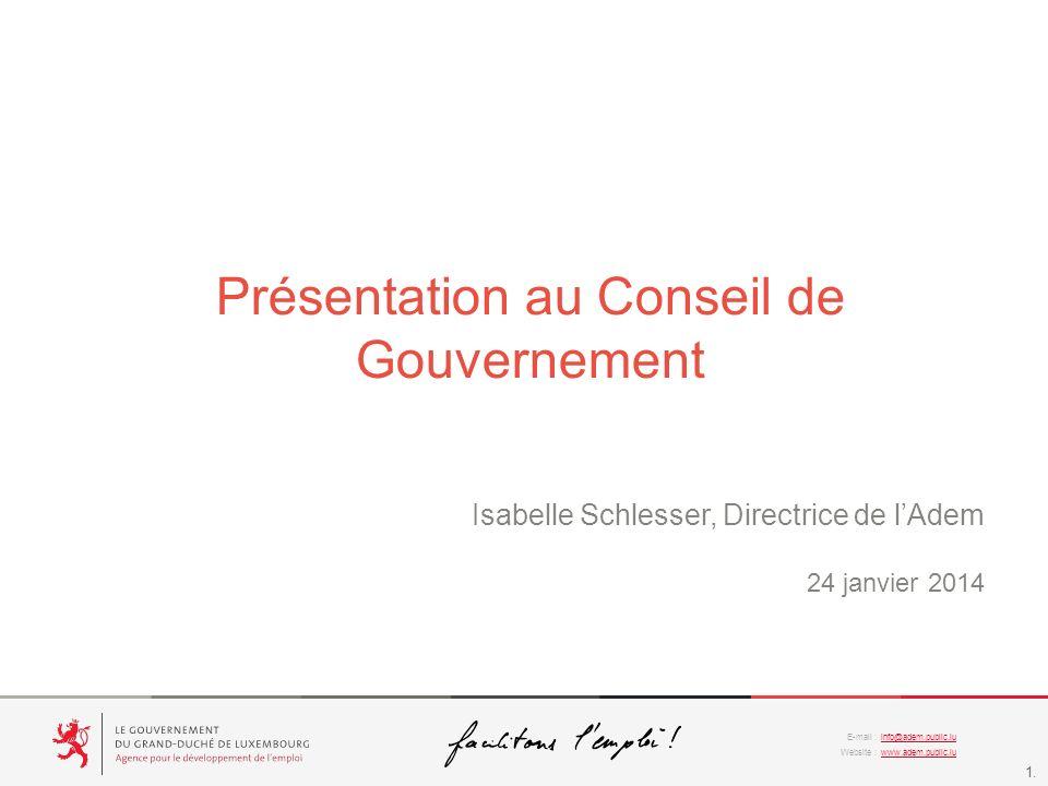 Présentation au Conseil de Gouvernement