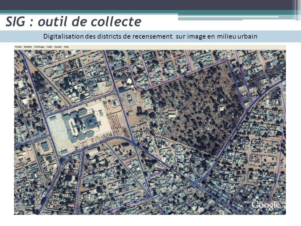 Digitalisation des districts de recensement sur image en milieu urbain