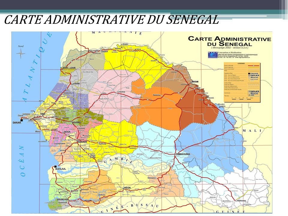 CARTE ADMINISTRATIVE DU SENEGAL