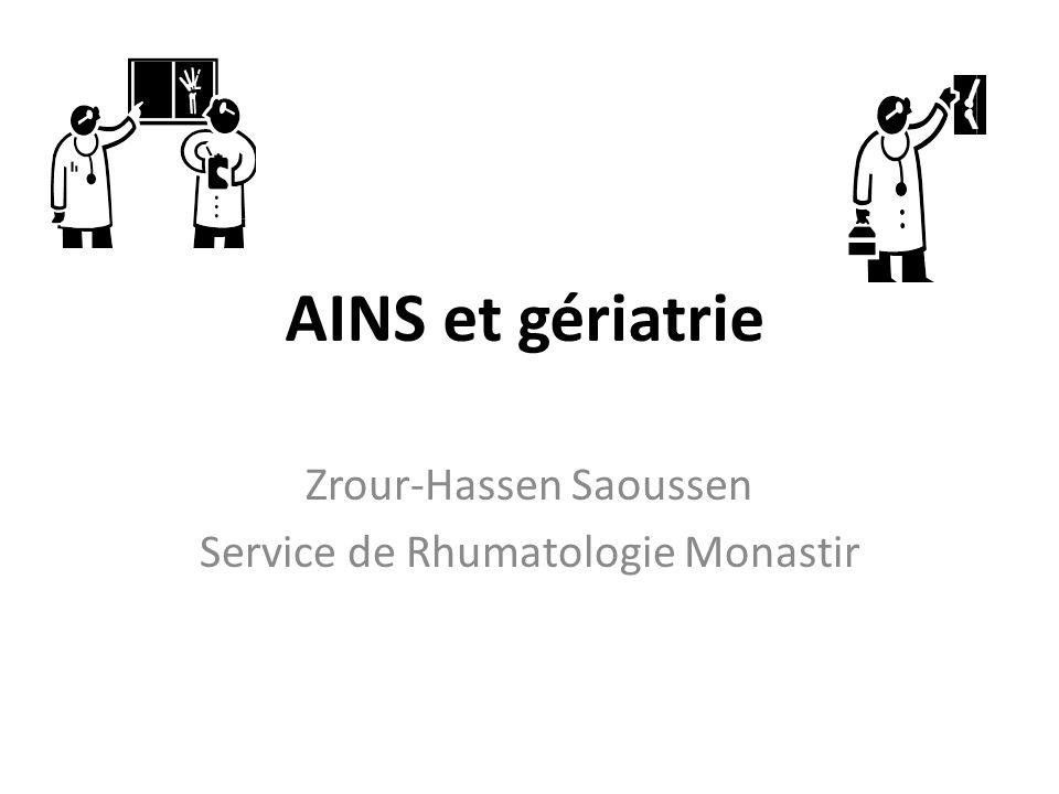 Zrour-Hassen Saoussen Service de Rhumatologie Monastir