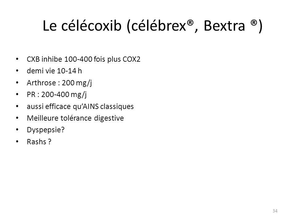 Le célécoxib (célébrex®, Bextra ®)