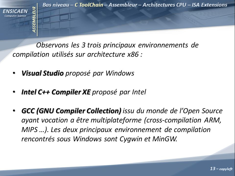 Visual Studio proposé par Windows
