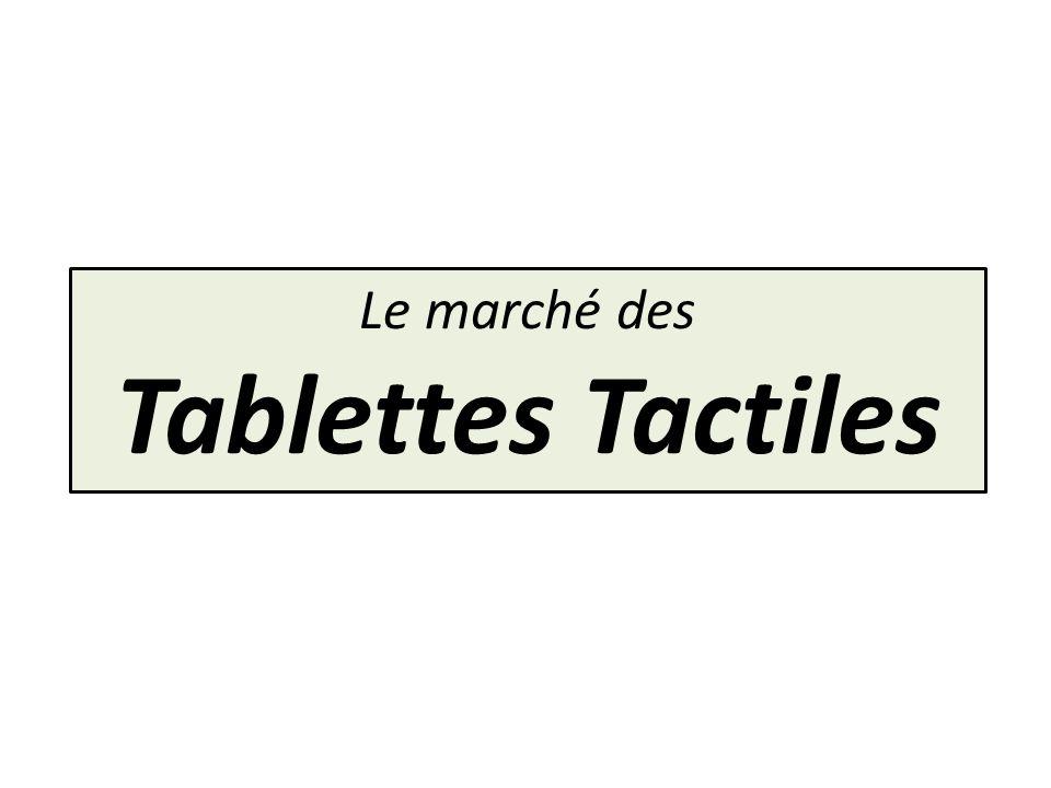 Le marché des Tablettes Tactiles