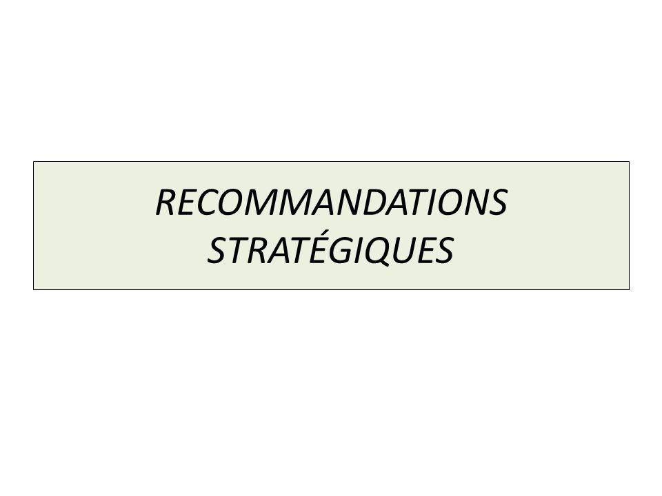 RECOMMANDATIONS STRATÉGIQUES