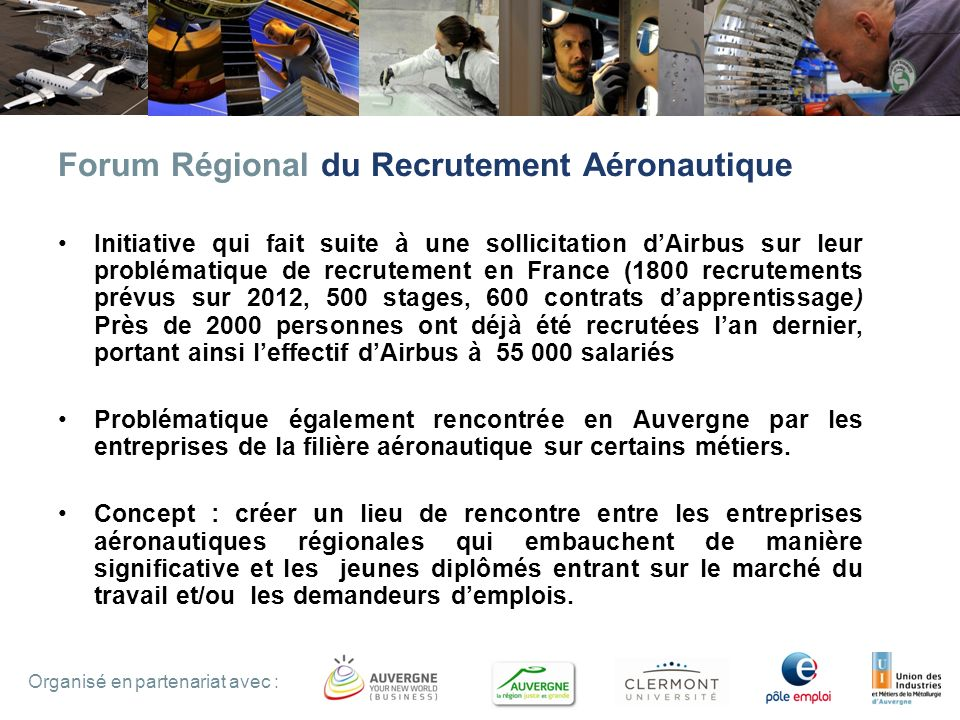 Forum Régional du Recrutement Aéronautique